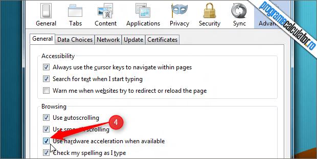Cum se activeaza / dezactiveaza accelerarea hardware in Firefox