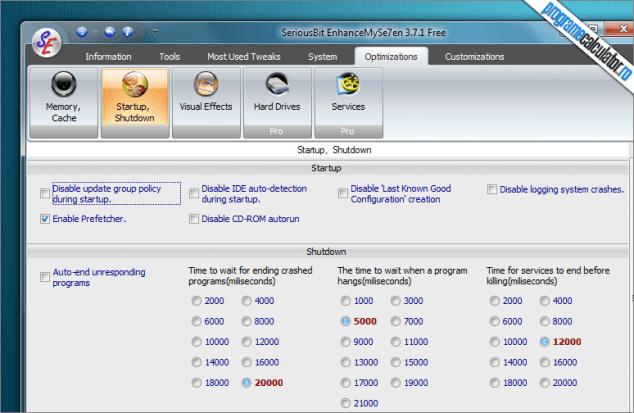 EnhanceMy7en - program cu care poti imbunatati performanta calculatorului