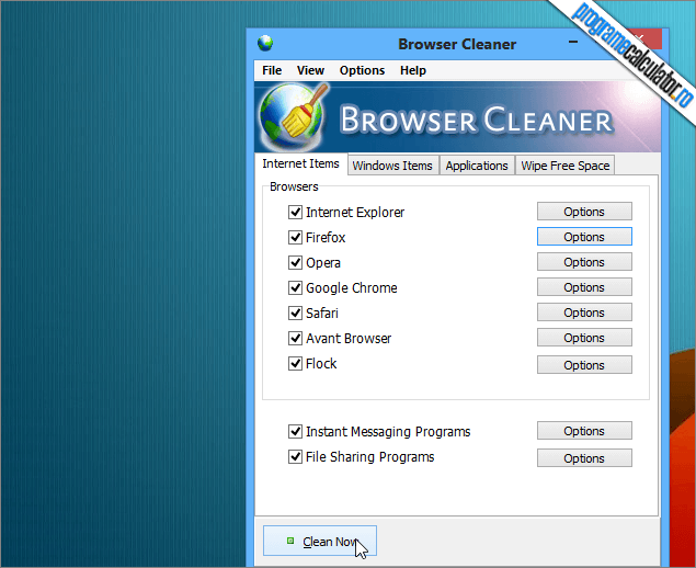 Browser Cleaner