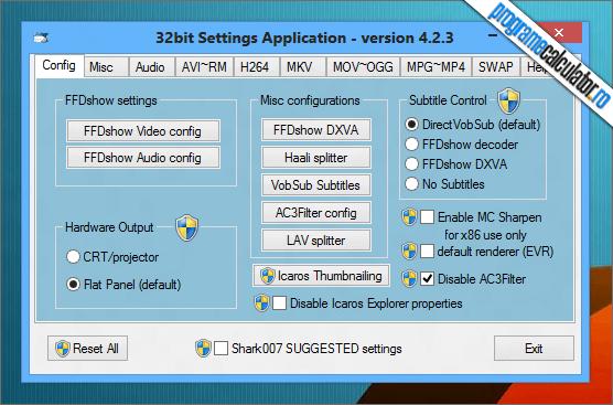 Setari Windows 7 codecs