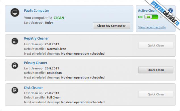 Comodo System Cleaner - PC curat