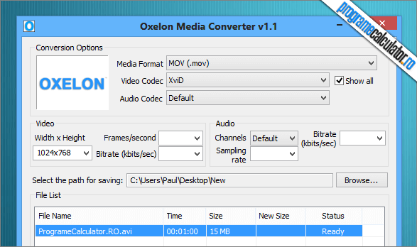 Program de convertit filme si muzica | Oxelon Media Converter
