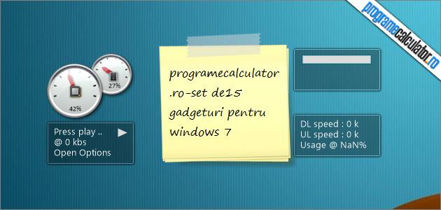 gadgeturi pentru windows 7