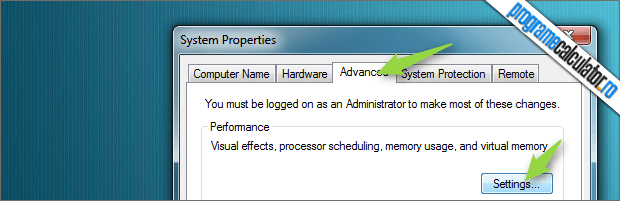 System Properties Windows 7