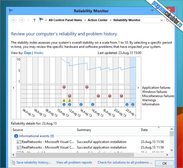 diagnosticarea problemelor sistemului de operare windows