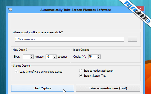program de facut automat screenshot-uri la un anumit interval de timp