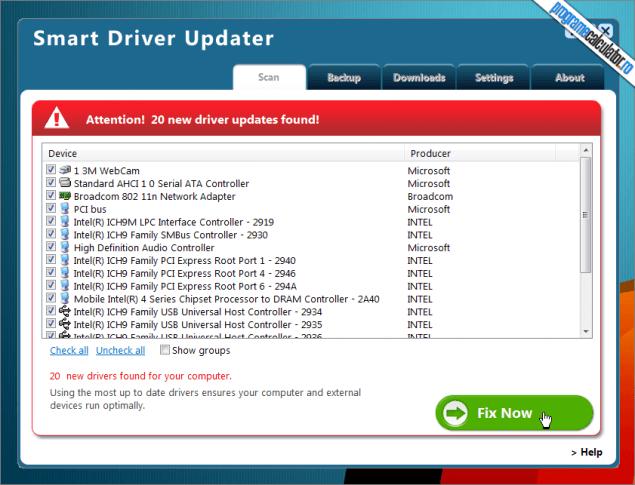 program de instalat drivere
