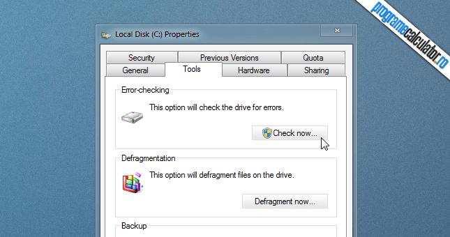 verificare si reparare hard disk