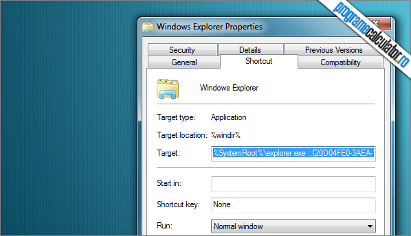 proprietati windows explorer