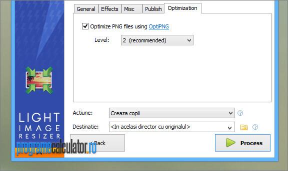 optimizarea imaginilor redimensionate cu Light Image Resizer