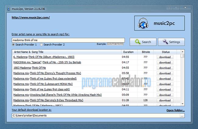 program de descarcat muzica în format mp3
