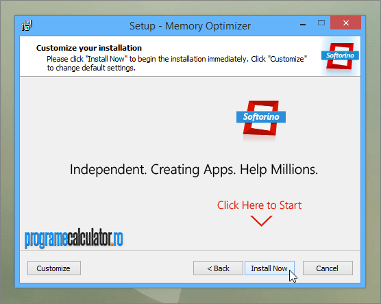 Install Now Memory Optimizer