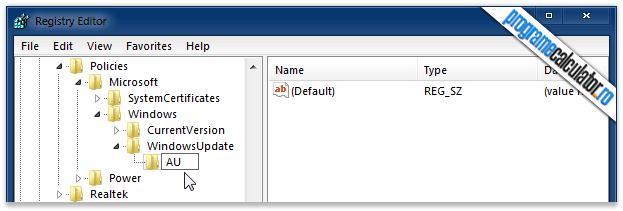 Windows » WindowsUpdate » AU