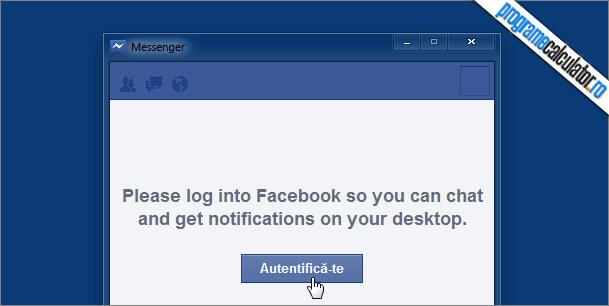 autentificare facebook messenger