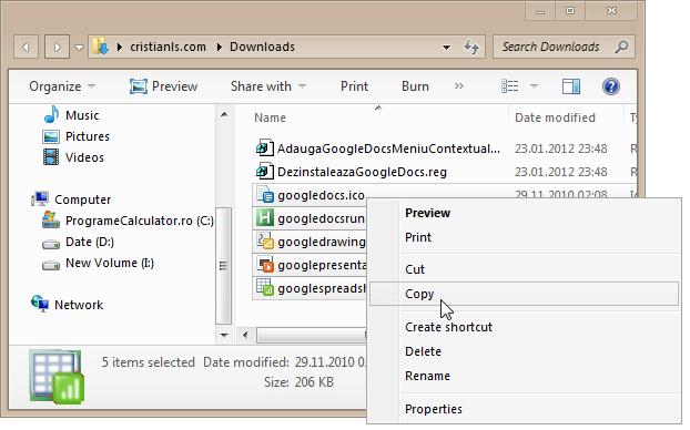 Copiaza fișierele în C:Windows