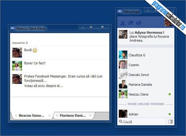 facebook messenger pentru windows