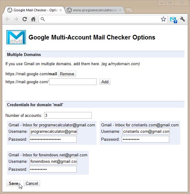 Gestionează mai multe conturi de Gmail în același timp
