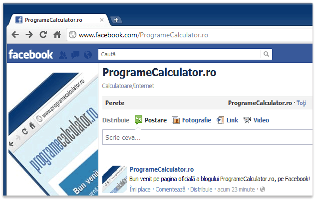 ProgrameCalculator.ro, pe Facebook