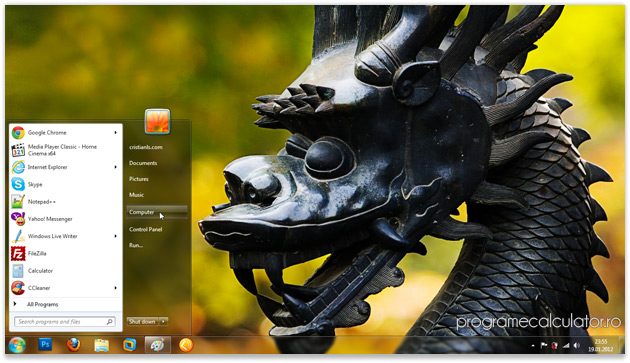 Temă Windows 7 cu dragoni | Year of the Dragon Theme for Windows 7