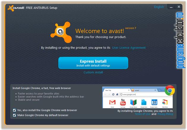 installer avast! Free Aantivirus v7
