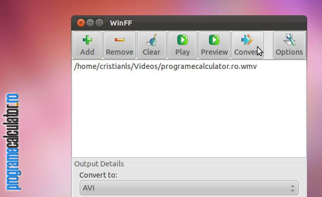 WinFF conversie fisiere Ubuntu