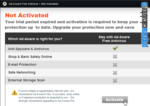 activare Ad-Aware Free Antivirus