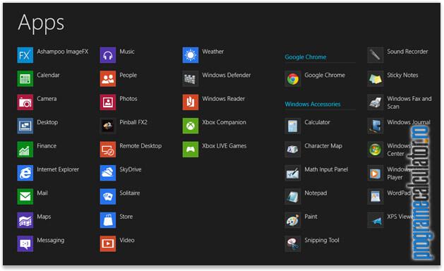 Click-dreapta în Windows 8
