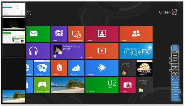 Colturi active ale Windows 8