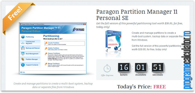 paragon partition manager gratis