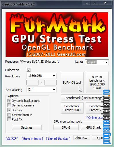 program de testat placa video FurMark