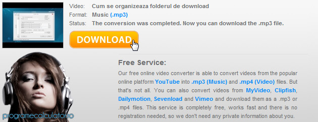 download MP3 de pe YouTube