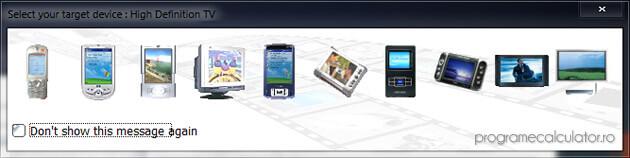 selectarea dispozitivului de redare