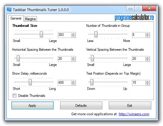 Personalizarea pictogramelor din Taskbar (bara de activități)