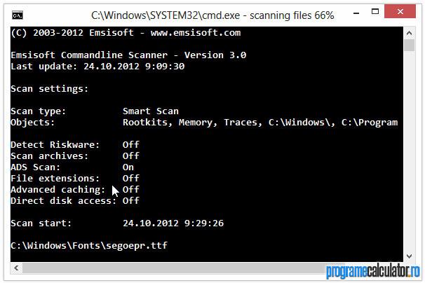 Commandline Scanner