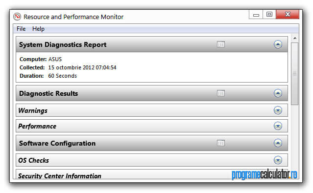 Resource and Performance Monitor