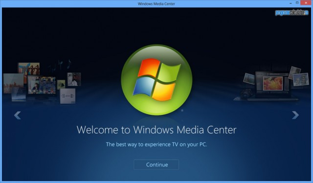 Windows Media Center în Windows 8 Pro