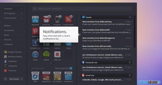Notificări în Pokki pentru Windows 8
