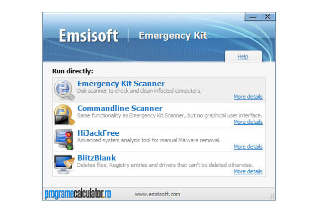 Program de devirusare: Emsisoft Emergency Kit