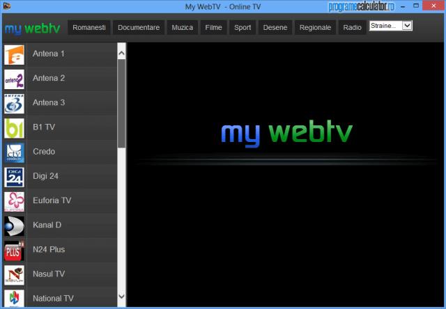 Program de vazut posturi TV online: My WebTV
