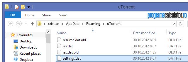 settings original