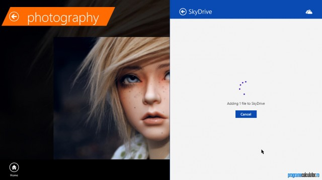 Descarcare în SkyDrive