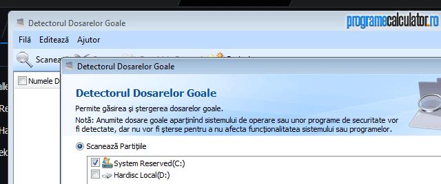 Detectorul Dosarelor Goale