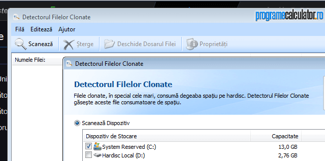Detectorul Filelor Clonate