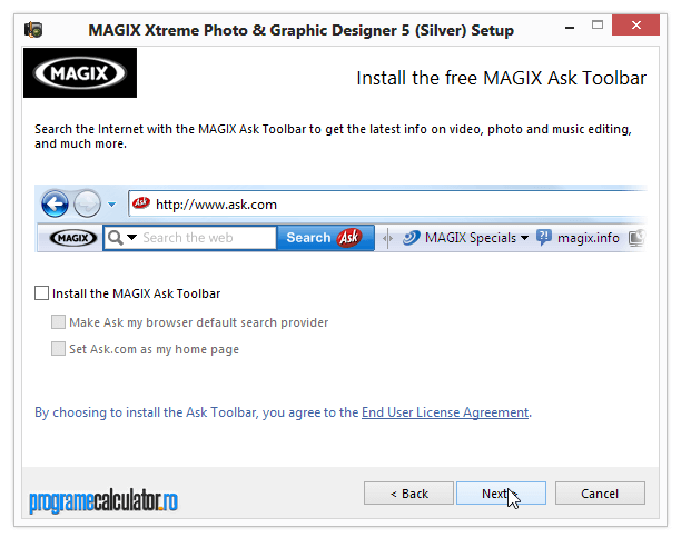 Instalare Magix Xtreme Photo & Graphic Designer 5