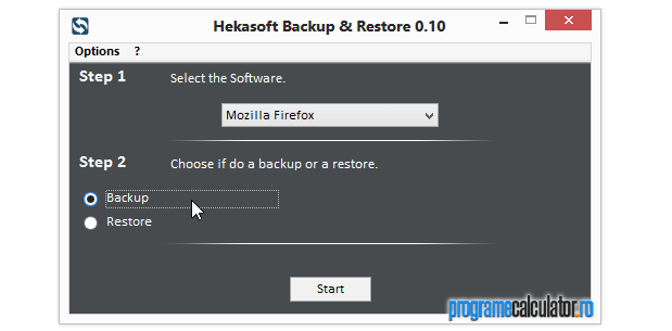 backup setari Mozilla Firefox