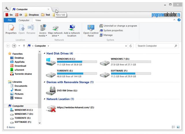 Navigarea pe file în Windows Explorer