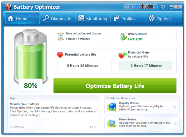 Rezumat Battery Optimizer