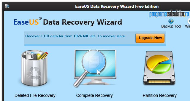 EaseUS Partition Recovery: Recuperare Date