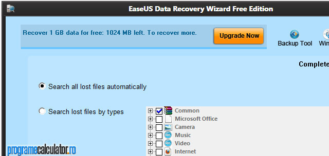 EaseUS Partition Recovery: Wizard Free Edition