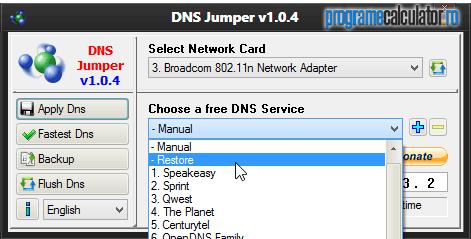 Restaurare DNS